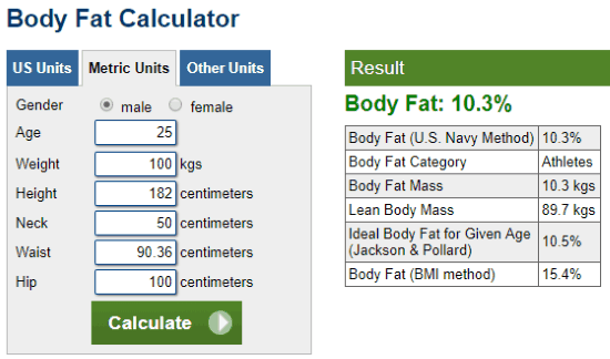Are You Fat Calculator Images