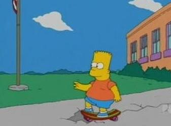 Bart Goes To Fat Camp Gif