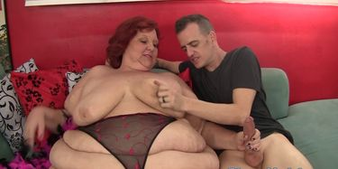 Doggystyled Redhead SSBBW Gets Mouthfucked. Pictures