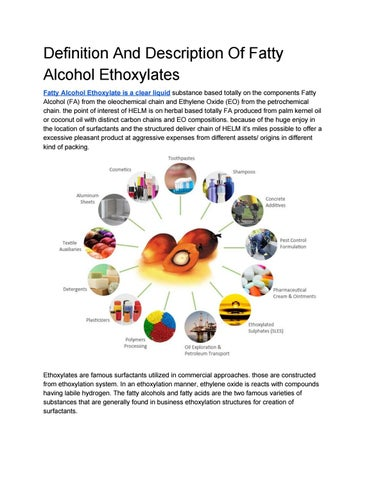 Ethoxylated Fatty Alcohol Pictures
