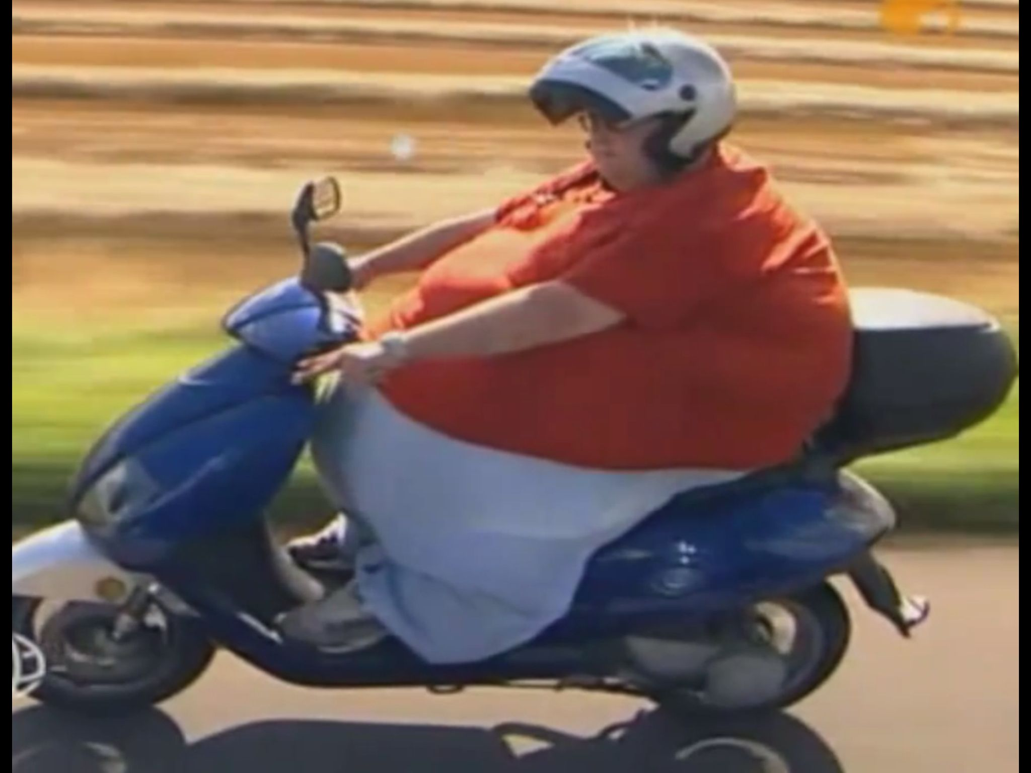 Fat Chick On Scooter HD