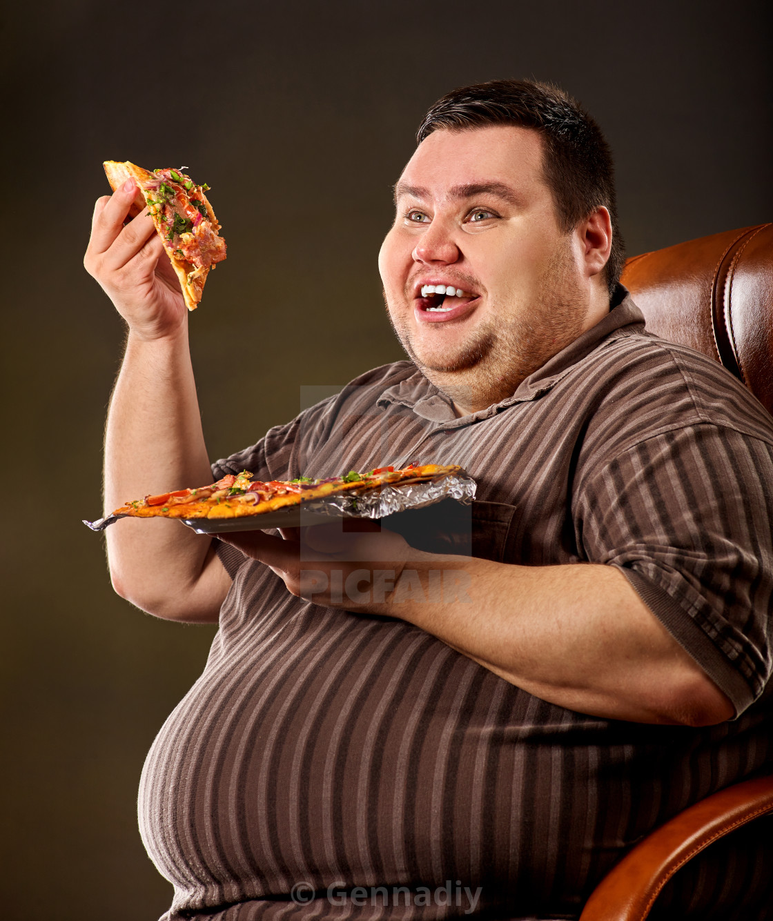 Fat Person Eating Pizza Photos
