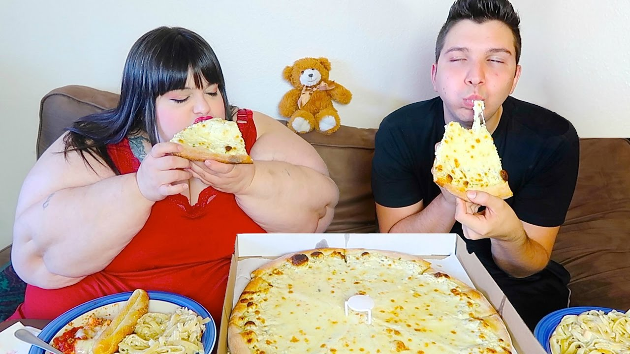 Fat Person Eating Pizza HD
