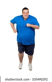 Fat Person Running Png
