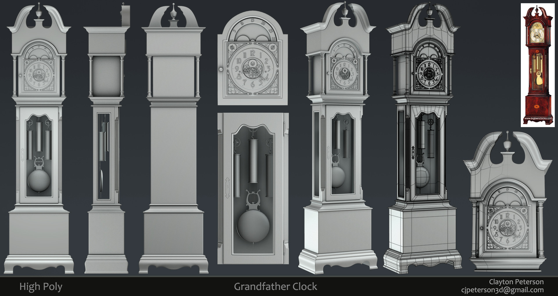 Grandfather Clock Model Pictures