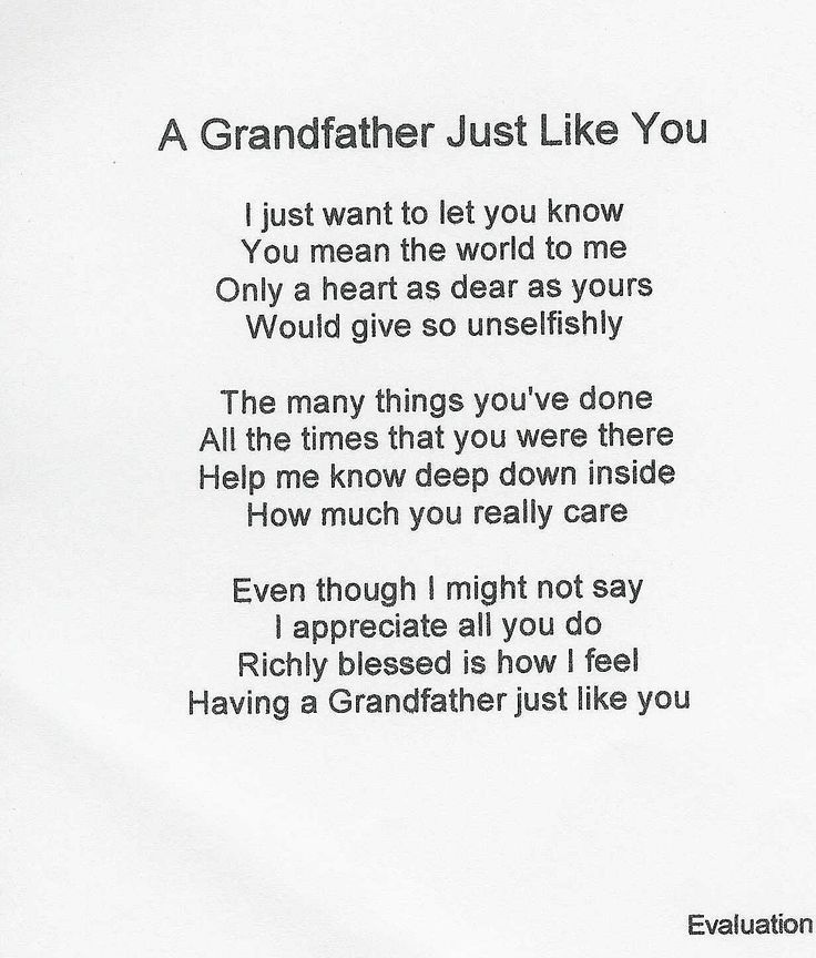 Loving Grandfather Poems Pic