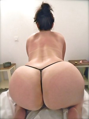 Plump Ass In Thongs Png