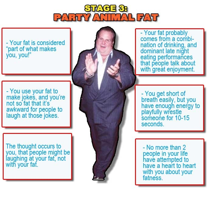 Sexy Stages Of Getting Fat